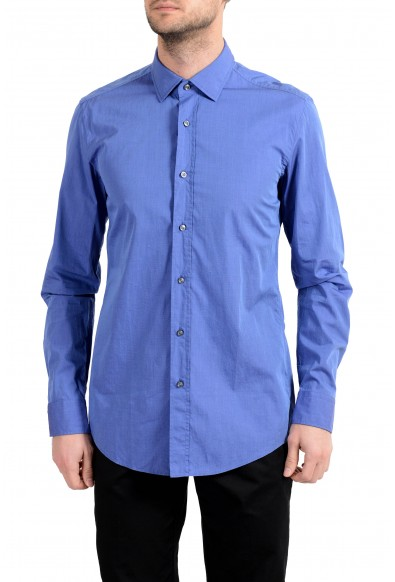 "Hugo Boss ""Igon"" Men's Slim Blue Long Sleeve Dress Shirt"