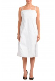 "Hugo Boss Women's ""Dewhy_WE"" White Sleeveless Fit&Flare Dress"
