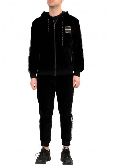 "Roberto Cavalli ""Sport"" Men's Black Velour Hooded Full Zip Track Suit"