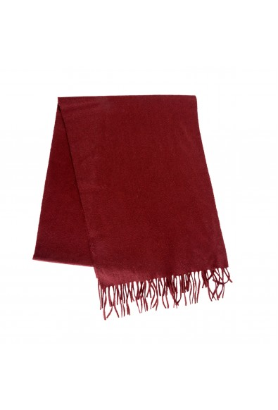 Burberry Burgundy 100% Cashmere Scarf: Picture 2