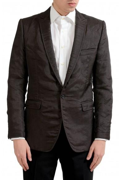 "Dolce & Gabbana ""Martini"" Men's Wool Silk Brown Blazer Sport Coat"