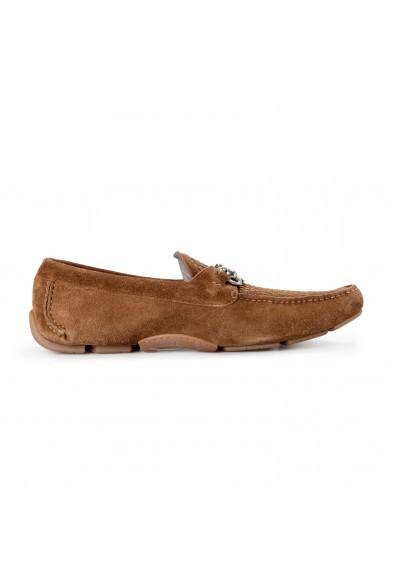 Salvatore Ferragamo Men's PARIGI 16 Brown Suede Leather Loafers Slip On Shoes: Picture 2