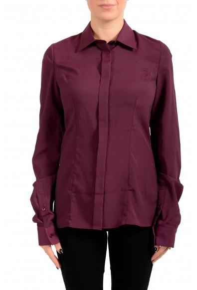 Maison Margiela Women's Purple Button Down Blouse Top