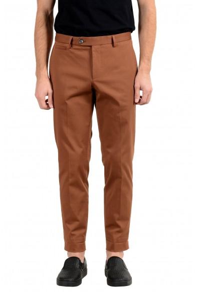 Hugo Boss Men's Brown Stretch Casual Pants