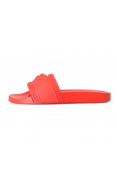 Versace Men's Bright Red Medusa Head Rubber Flip Flops Shoes: Picture 2