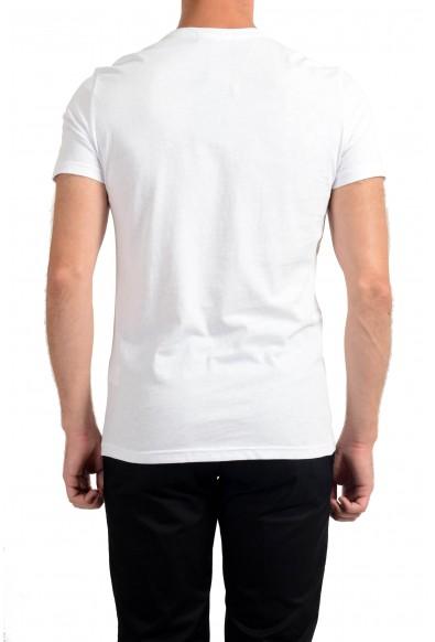 Roberto Cavalli Men's White Graphic Print Crewneck T-Shirt: Picture 2