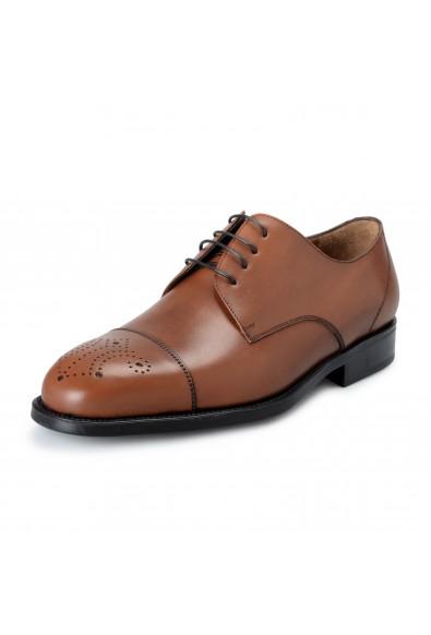 "Salvatore Ferragamo Mens ""Aramix1"" Brown Leather Oxfords Shoes"
