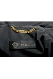 Versace Women's Black Zip Up Hooded Bomber Jacket : Picture 5