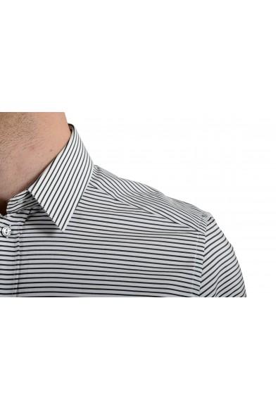 "Dolce & Gabbana ""Gold"" Men's Black Striped Long Sleeve Dress Shirt : Picture 2"
