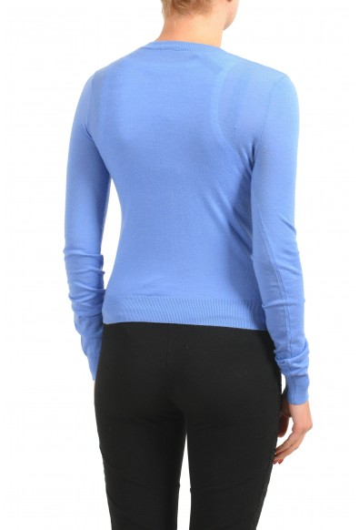 Dsquared2 Women's 100% Wool Blue Light Cardigan Sweater: Picture 2