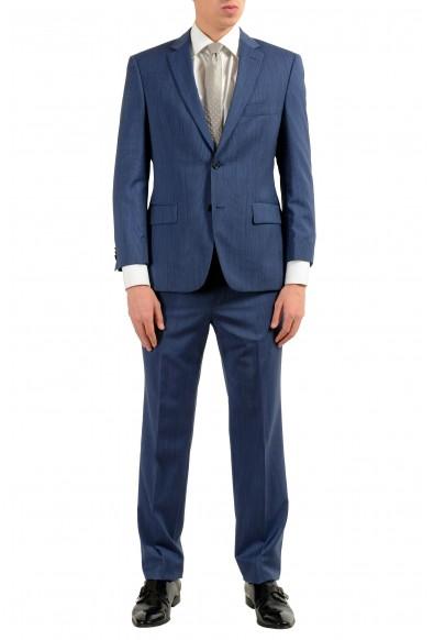 "Hugo Boss ""Paolini1/Movio1US"" Men's 100% Wool Blue Two Button Suit"