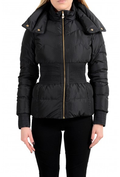 Versace Collection Women's Down Full Zip Parka Jacket With Adjustable Collar