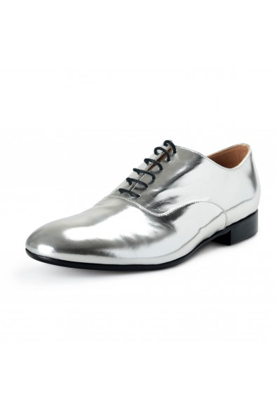 Marni Women's Silver Leather Oxfords Lace Up Shoes