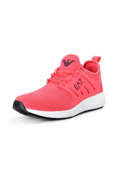 Emporio Armani EA7 Men's Bright Pink Fashion Sneakers Shoes
