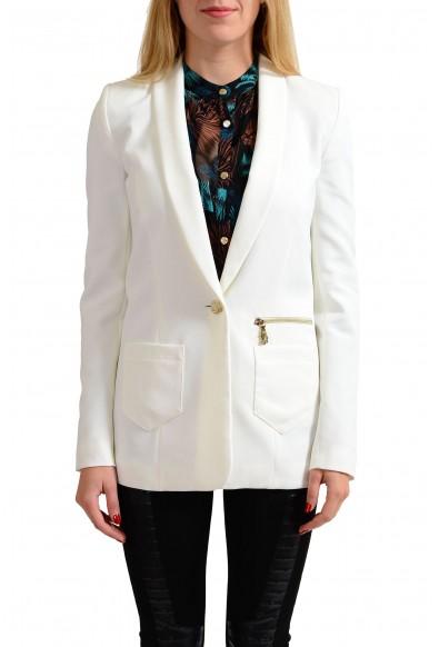 Versace Jeans White One Button Women's Blazer
