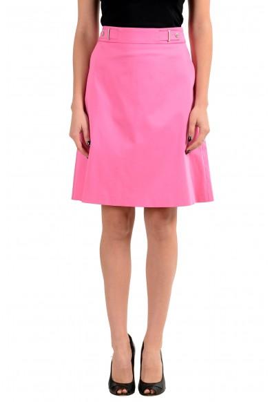 """Hugo Boss """"Raiesa"""" Women's Pink Stretch A-Line Skirt"""