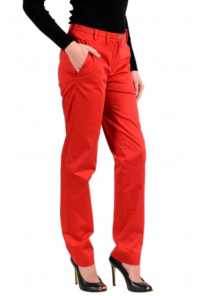 Versace Collection Women's Red Stretch Casual Pants: Picture 2