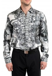 """Versace Collection """"Trend"""" Men's 100% Silk Graphic Long Sleeve Dress Shirt: Picture 3"""