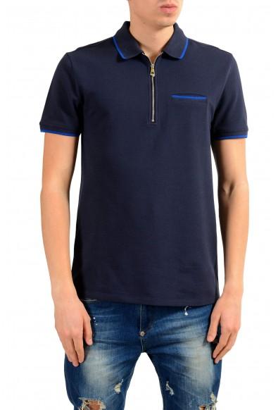 Versace Collection Men's Blue Short Sleeve Polo Shirt