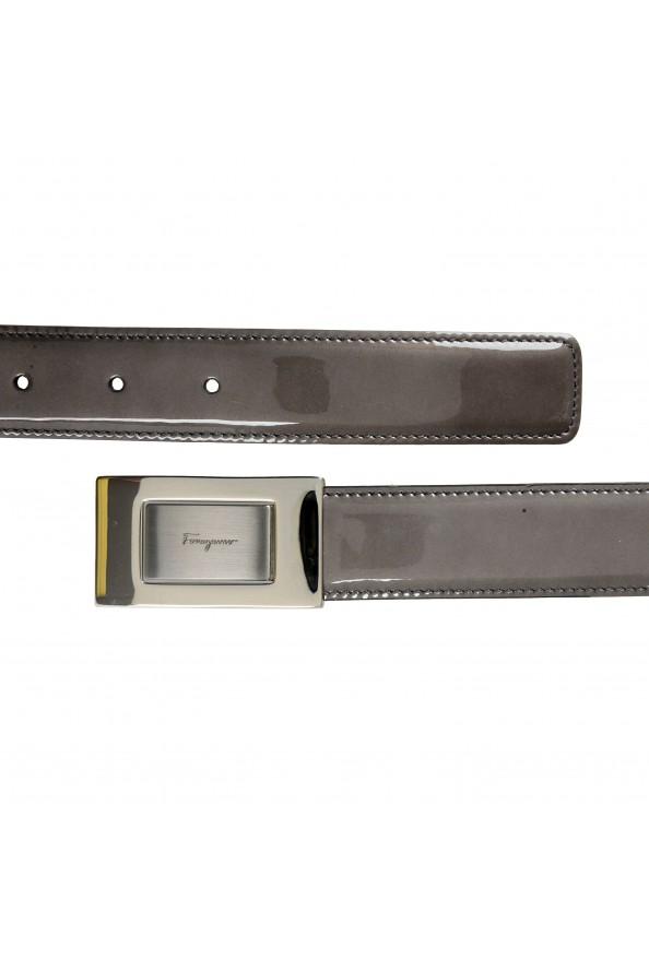 Salvatore Ferragamo 100% Leather Gray Men's Buckle Belt: Picture 2