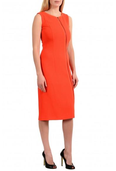 "Hugo Boss Women's ""Danafea"" Orange Zip Up Sleeveless Sheath Dress: Picture 2"