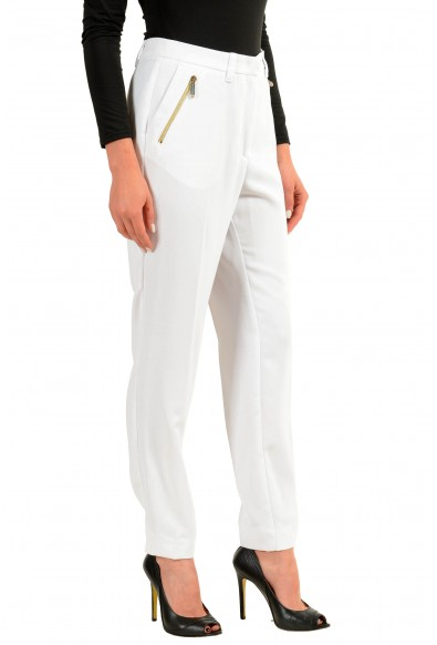 Versace Jeans White Women's Casual Pants: Picture 2