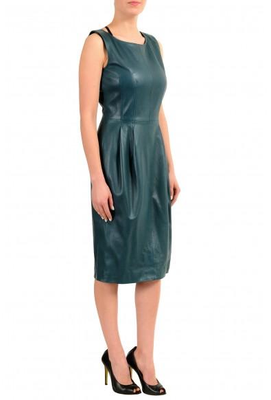 Gucci 100% Leather Sleeveless Women's Sheath Dress: Picture 2