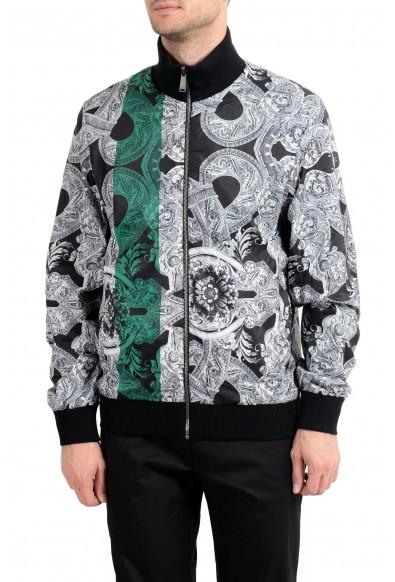 Versace Men's Wool Reversible Full Zip Windbreaker Jacket