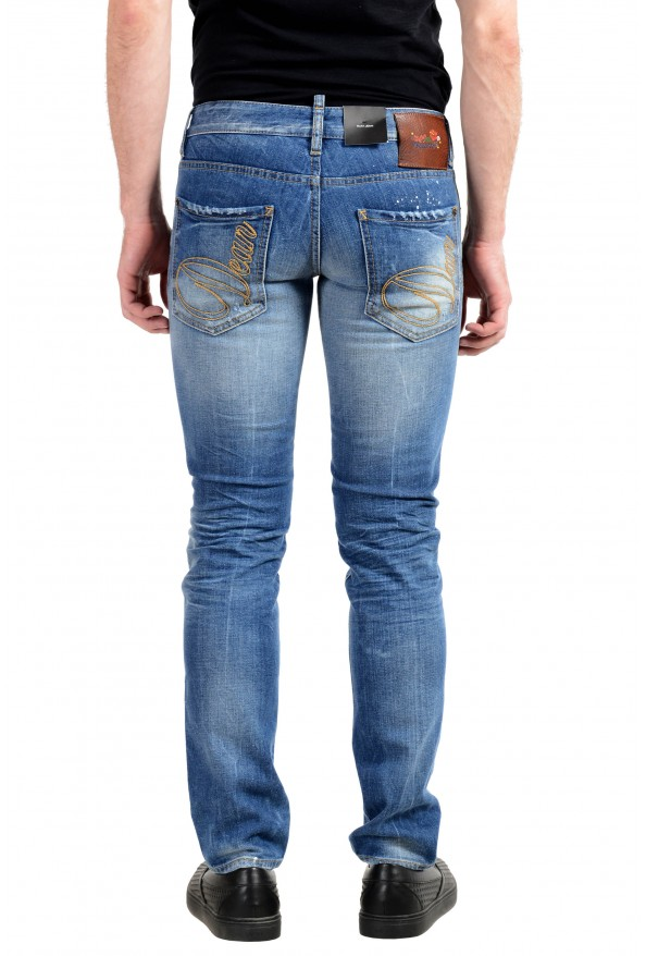 """Dsquared2 """"Slim Jean"""" Men's Blue Stretch Ripped Skinny Jeans : Picture 3"""