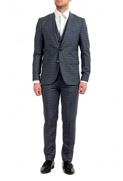 """Hugo Boss """"Astian/Hets184V1"""" Men's 100% Wool Extra Slim Three-Piece Suit"""