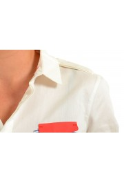 Dsquared2 White Short Sleeve Button Front Women's Shirt: Picture 3