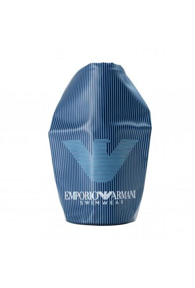 Emporio Armani Unisex Blue Striped Small Waterproof Beach Bag
