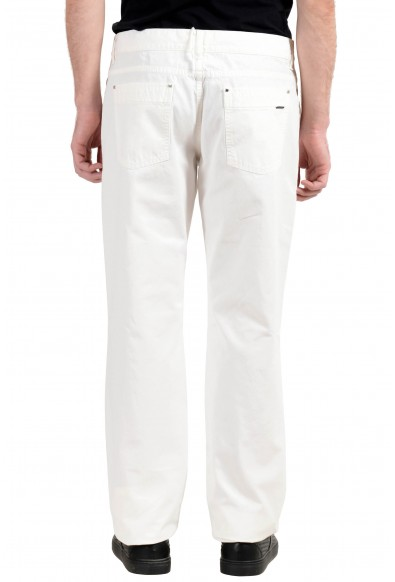 Malo Men's White Straight Leg Jeans : Picture 2