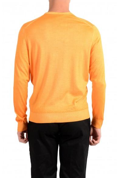 Kiton Napoli Men's Orange Crewneck Silk Cashmere Pullover Sweater : Picture 2