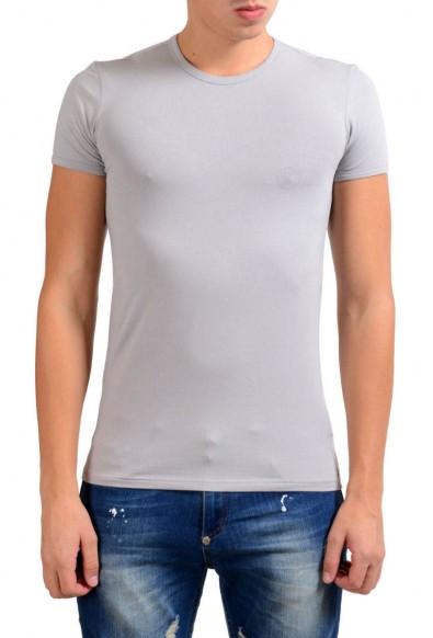 Versace Collection Men's Gray Stretch Crewneck Short Sleeve T-Shirt