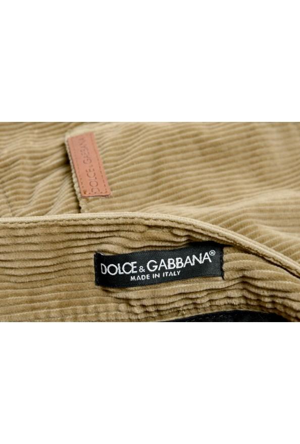 Dolce & Gabbana Men's Brown Corduroy Casual Pants: Picture 4