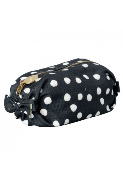 Red Valentino Women's Multi-Color Canvas Polka Dots Print Cosmetic Bag