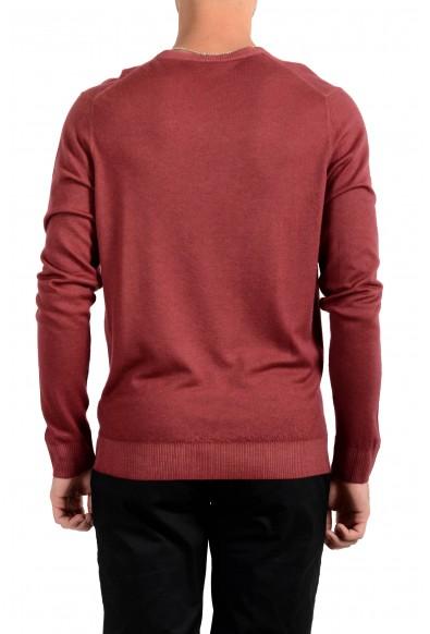 Kiton Napoli Men's Burgundy V-Neck 100% Cashmere Pullover Sweater: Picture 2