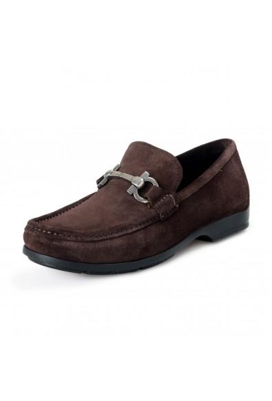 Salvatore Ferragamo Men's Gerolamo 1 Suede Leather Loafers Shoes