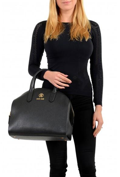 Roberto Cavalli Women's Black Leather Shoulder Handbag Satchel Bag: Picture 2