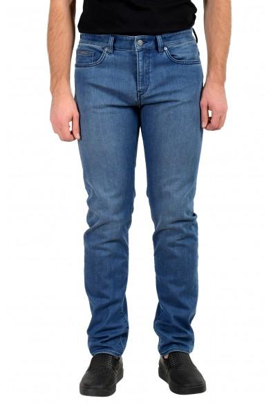 "Hugo Boss Men's ""Delaware3-1""Slim Fit Medium Blue Wash Stretch Jeans"