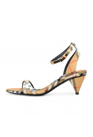Burberry London Women's HANSEL Checkered Ankle Strap Heeled Sandals Shoes: Picture 2