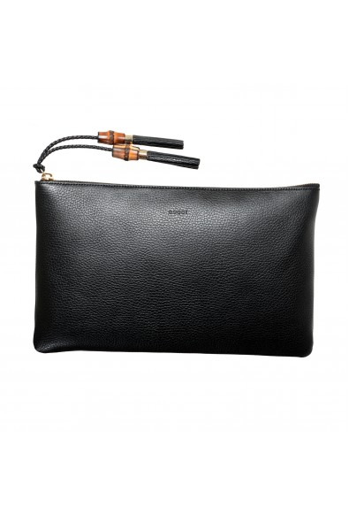 Gucci Women's Textured Leather Black Large Clutch