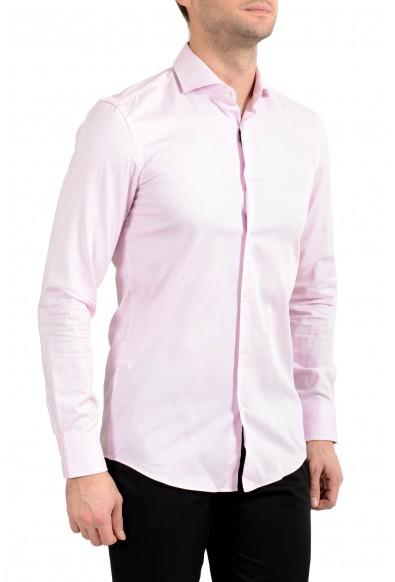 "Hugo Boss Men's ""Jason"" Pink Plaid Slim Fit Long Sleeve Dress Shirt"