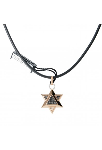 BARAKA Men's ST281151RODD000047 Rose Gold Diamonds Star Of David Pendant: Picture 2