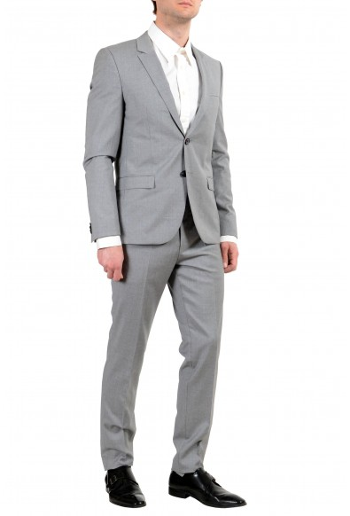 """Hugo Boss """"Arti/Hesten182F5"""" Men's 100% Wool Gray Extra Slim Two Button Suit: Picture 2"""