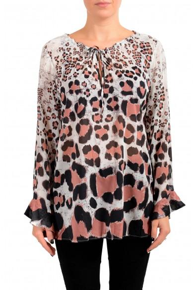 Just Cavalli Women's Multi-Color Silk Blouse Top