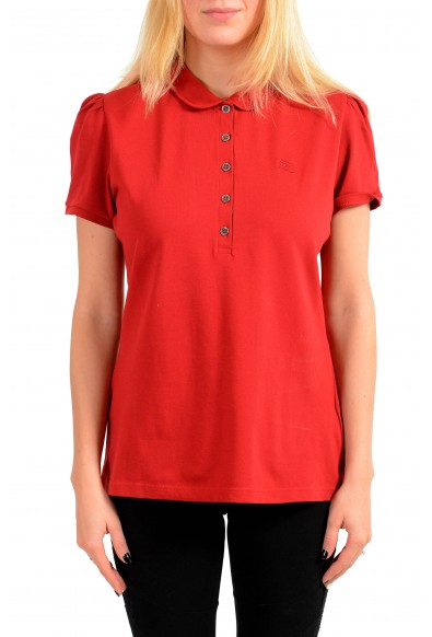 Burberry Women's Red Short Sleeves Polo Shirt