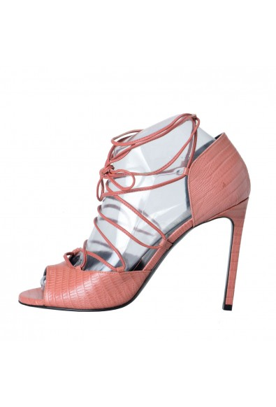 Saint Laurent Women's Leather High Heel Ankle Strap Pump Shoes: Picture 2