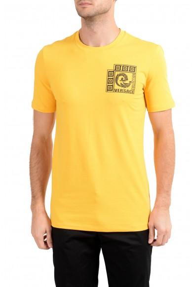 Versace Collection Men's Yellow Graphic Crewneck T-Shirt